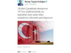 """Cumhurbaşkanı Erdoğan'ın """"Çanakkale"""" Mesajı"""
