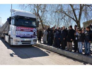 Bayırbucak Türkmenleri İçin 34'üncü Yardım Tır'ı Uğurlandı