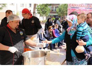 Belediye İkramlarıyla Çanakkale Ruhunu Yaşattı