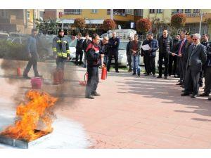 Altınova Kaymakamlığı'nda Yangın Tatbikatı