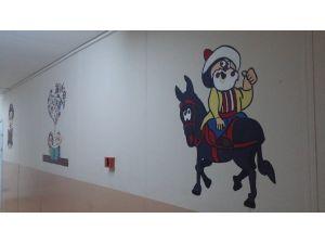 Namık Kemal İlkokulunun Duvarları Artık Renkli
