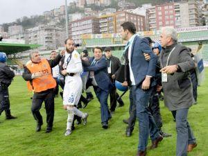 Giresunspor - Kayseri Erciyesspor Maçı Sonrası Olaylar Çıktı