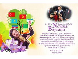 Vali Düzgün'den 21 Mart Nevruz Bayramı Mesajı