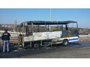 Halk Otobüsünde Yangın