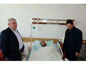 Başkan Mahçiçek, Yaralı Polisi Ziyaret Etti