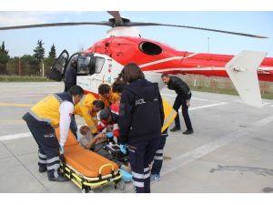 Kalp Hastasının Yardımına Ambulans Helikopter Yetişti