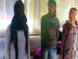 Erkek Kılığındaki PKK Yandaşı 3 Kız, Korsan Gösteride Yakalandı