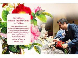 Vali Orhan Düzgün'ün 18-24 Mart Yaşlılar Haftası Mesajı