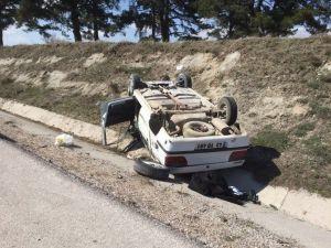 Kütahya'da Otomobil Takla Attı: 2 Yaralı