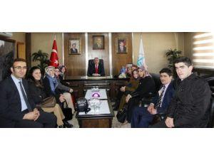 Öğretmen Adaylarından Başkan Memiş'e Ziyaret
