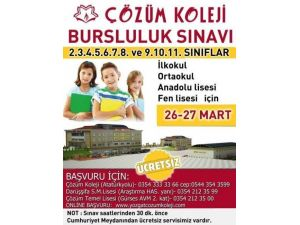 Yozgat Çözüm Koleji Bursluluk Sınavı Düzenliyor