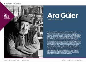 Ünlü Fotoğraf Sanatçısı Ara Güler'e Saygı Gecesi Düzenlenecek