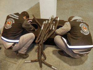 Ses sisteminin içinde 2 milyon liralık kokain ele geçirildi