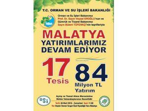 Malatya'da Bakanların Katılımıyla 12 Tesisin Temeli Atılacak