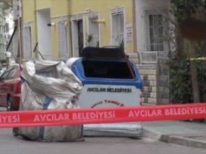 İstanbul Avcılar'da çöp konteyneri yakınında patlama