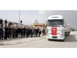 Afyon'dan Suriyeli Türkmenlere yardım eli