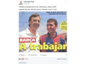 Hagi'den Johan Cruyff mesajı