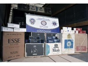 Gümüşhane'de 190 Bin Paket Kaçak Sigara Ele Geçirildi