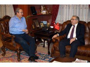 TOKİ Başkanı Ergün Turan, Belediye Başkanı Ünver'i Ziyaret Etti
