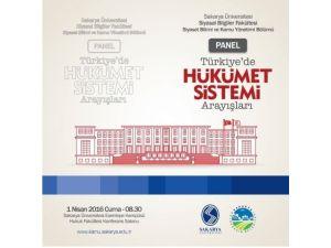 Sakarya Üniversitesi'nde Hükumet Sistemleri Tanıtılacak