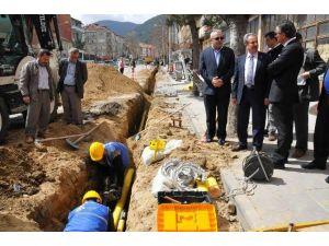 Akşehir'de Doğal Gaz Çalışmaları Başladı