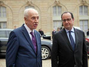 Hollande, Peres İle Görüştü