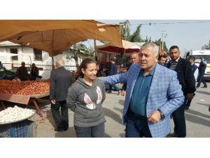 Başkan Toksoy Pazarcı Esnafını Ziyaret Etti
