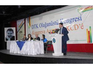 Demirtaş Dtk'nın Olağanüstü Kongresine Katıldı