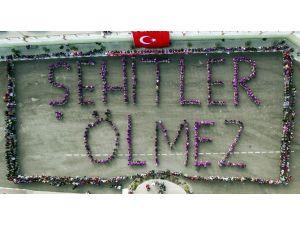 """Nevşehir Lisesi Öğrencilerinden """"Şehitler Ölmez"""" Kareografisi"""