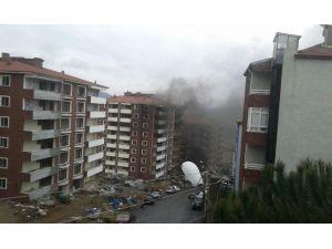 İnşaat Halindeki Apartmanda Yangın Çıktı