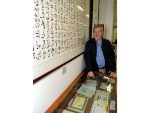 Türkiye hayranı Çinli hattattan muhteşem eserler