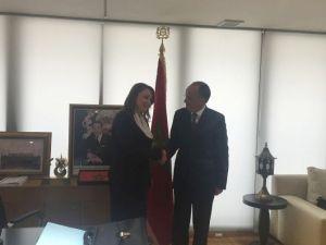 Atasoy, Fas Krallığı Sanayi Ticaret Ekonomi Yatırım Bakanı Mohammed Abbou İle Görüştü