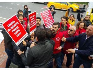 Beşiktaş'ta Taşeron İşçi Eylemine Polis Müdahalesi