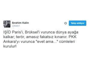 Cumhurbaşkanlığı Sözcüsü Kalın'dan 'Teröre Karşı Farklı Tavır' Tepkisi