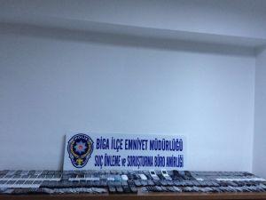 Biga'da Kaçak Cep Telefonu Operasyonu