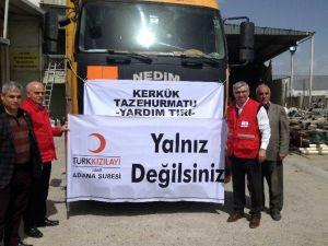 Adana'dan Kerkük'e Yardım Tır'ı