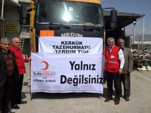 Adana'dan Kerkük'e yardım TIR'ı