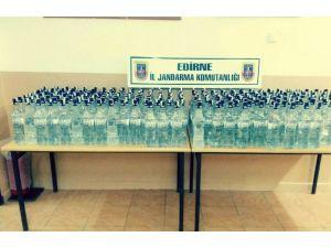 Edirne'de 251 şişe sahte rakı ele geçirildi
