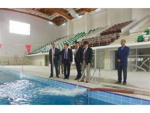 Yarı olimpik havuzun test aşamaları sürüyor