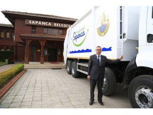 Sapanca Belediyesi Yeni Çöp Transfer Aracı Aldı