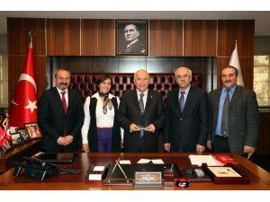 Ulukan, Yenimahalle Belediye Başkanı'nı ziyaret etti