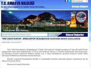 Amasya Valiliğinden Erbaaspor taraftarı için şok karar