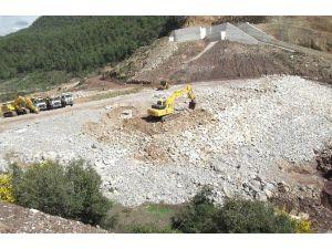 Aksu Karaöz Çepeli Barajı'nda Çalışmalar Devam Ediyor