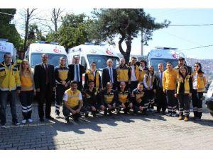 Zonguldak'ta 9 Yeni Ambulans Göreve Başladı