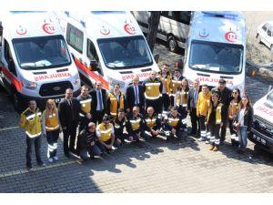 Zonguldak'ın 112 acil sağlık filosuna 9 ambulans eklendi