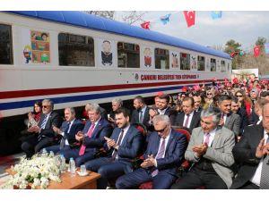 Çankırı'da 'Tren Kütüphane' açıldı