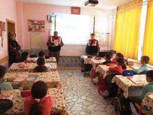 Saray Jandarmadan Öğrencilere Trafik Eğitimi