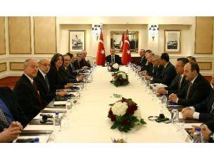 Cumhurbaşkanı Erdoğan, Musevi Kuruluşlarının Temsilcilerini Kabul Etti