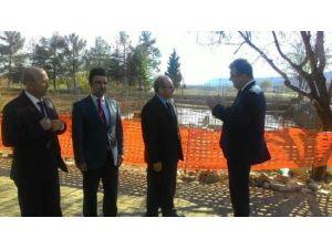 Vali Kocatepe'den Göçük Meydana Gelen İnşatta İnceleme
