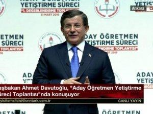 Davutoğlu, Aday Öğretmen Yetiştirme Toplantısı'nda Konuşuyor